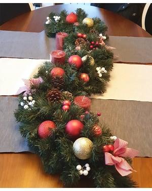 Коледен венец за маса